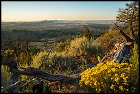View from Schonchin Butte, sunset. Lava Beds National Monument, California, USA ( color)