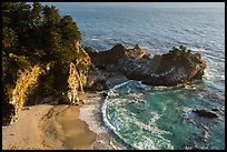 McWay Cove and waterfall, Julia Pfeiffer Burns State Park. Big Sur, California, USA ( color)