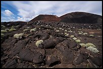 Hardened lava flow and Pisgah Crater. Mojave Trails National Monument, California, USA ( )