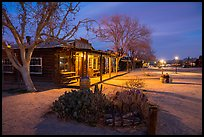Pioneertown at night. California, USA ( color)