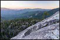 Granite slab at sunset, Dome Rock. Giant Sequoia National Monument, Sequoia National Forest, California, USA ( color)
