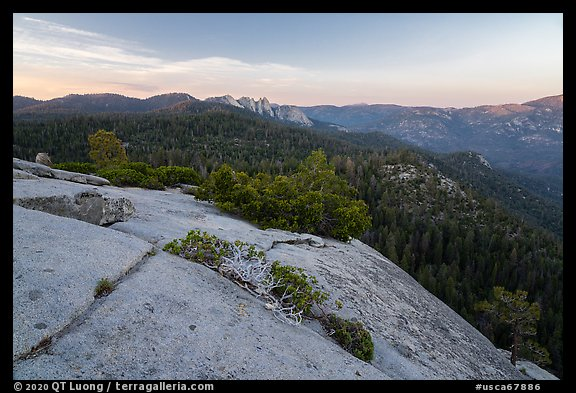 Dome Rock and Needles. Giant Sequoia National Monument, Sequoia National Forest, California, USA (color)