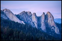 The Needles at twilight. Giant Sequoia National Monument, Sequoia National Forest, California, USA ( color)