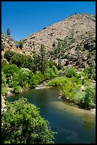 Kern River from Johnsondale Bridge. Giant Sequoia National Monument, Sequoia National Forest, California, USA ( color)