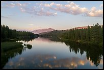 Aerial View of Hume Lake at sunset. Giant Sequoia National Monument, Sequoia National Forest, California, USA ( )