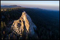 Aerial View of Buck Rock and fire lookout. Giant Sequoia National Monument, Sequoia National Forest, California, USA ( )