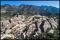 Aerial view of Devils Punchbowl Natural Area. San Gabriel Mountains National Monument, California, USA ( color)