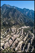 Aerial view of Devils Punchbowl Formation. San Gabriel Mountains National Monument, California, USA ( )