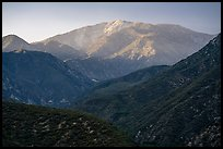 Mt Baldy from San Antonio Canyon. San Gabriel Mountains National Monument, California, USA ( color)