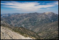 View from Mount Baldy summit. San Gabriel Mountains National Monument, California, USA ( )