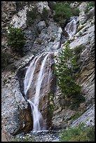 Lower tiers of San Antonio Falls. San Gabriel Mountains National Monument, California, USA ( )