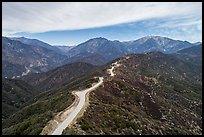 Aerial view of Glendora Ridge Road. San Gabriel Mountains National Monument, California, USA ( )
