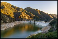 Moris Dam and Moris Reservoir. San Gabriel Mountains National Monument, California, USA ( )