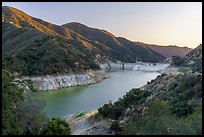 Moris Reservoir impounded by Moris Reservoir. San Gabriel Mountains National Monument, California, USA ( )