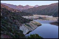 San Gabriel Canyon, San Gabriel Reservoir and Cucamonga Peak. San Gabriel Mountains National Monument, California, USA ( )