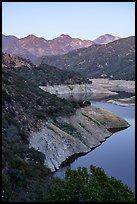 San Gabriel Reservoir, Cucamonga Peak, Etiwanda Peak. San Gabriel Mountains National Monument, California, USA ( )