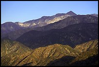 Twin Peaks, early morning. San Gabriel Mountains National Monument, California, USA ( )