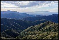 Hills and Los Angeles Basin from Glendora Ridge. San Gabriel Mountains National Monument, California, USA ( )