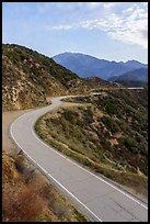 Glendora Ridge Road and San Gorgonio range. San Gabriel Mountains National Monument, California, USA ( )