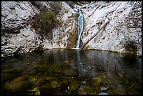 Pool and Lower Switzer Falls. San Gabriel Mountains National Monument, California, USA ( )