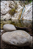 Boulders and Lower Switzer Falls. San Gabriel Mountains National Monument, California, USA ( )