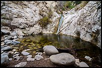 Boulders and pool, Lower Switzer Falls. San Gabriel Mountains National Monument, California, USA ( )