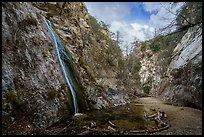 Upper Switzer Falls in box canyon. San Gabriel Mountains National Monument, California, USA ( )