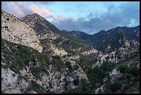 Bear Canyon at sunset. San Gabriel Mountains National Monument, California, USA ( )