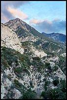Peak above Bear Canyon at sunset. San Gabriel Mountains National Monument, California, USA ( )