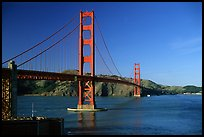 Golden Gate bridge, afternoon. San Francisco, California, USA ( color)