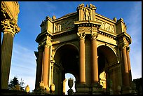Rotunda of the Palace of Fine arts, late afternoon. San Francisco, California, USA ( color)