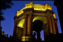 Rotunda of the Palace of Fine arts, night. San Francisco, California, USA