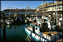 Fishing boats, Fisherman's Wharf. San Francisco, California, USA (color)