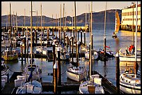 Marina at sunset. San Francisco, California, USA (color)