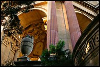 Detail of the Palace of Fine arts. San Francisco, California, USA ( color)