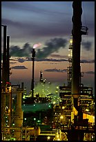 Oil Refinery at sunset, Rodeo. San Pablo Bay, California, USA ( color)