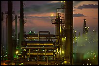 San Francisco Refinery, sunset, Rodeo. San Pablo Bay, California, USA ( color)