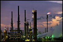 Pipes of San Francisco Refinery, Rodeo. San Pablo Bay, California, USA ( color)