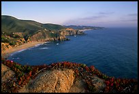 Coastline near Devil's slide, sunset. San Mateo County, California, USA