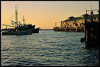 Fisherman's wharf at sunset. Monterey, California, USA (color)