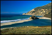 Lagoon and beach. Big Sur, California, USA (color)