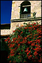 Bell tower of Carmel Mission. Carmel-by-the-Sea, California, USA ( color)