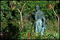 Statues of the father in the garden, Carmel Mission. Carmel-by-the-Sea, California, USA ( color)