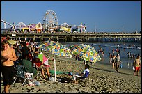 Beach and pier. Santa Monica, Los Angeles, California, USA