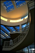 Interior of Entrance Hall, sunset, Getty Museum, Brentwood. Los Angeles, California, USA ( color)