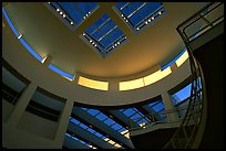 Interior of Entrance Hall of Museum, sunset, Getty Center, Brentwood. Los Angeles, California, USA ( color)