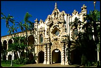 Casa Del Prado, afteroon, Balboa Park. San Diego, California, USA (color)