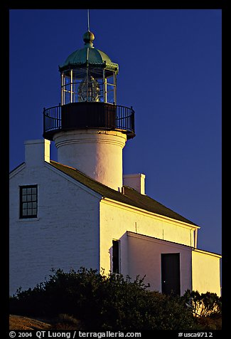 Old Point Loma Lighthouse, late afternoon. San Diego, California, USA