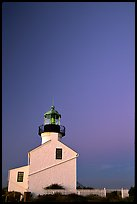 Old Point Loma Lighthouse, sunset. San Diego, California, USA (color)