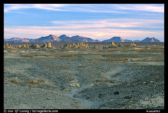 Trona Pinnacles rising from the bed of the Searles Dry Lake basin. California, USA (color)